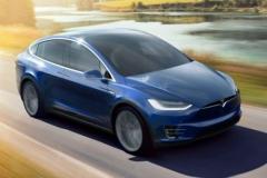 2017 Tesla Model X blue