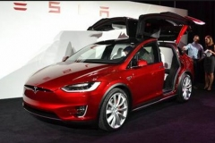 2017 Tesla Model X red